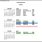 Sample Yearly Schedule Of Events Free Download