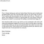 Santa Christmas Letter