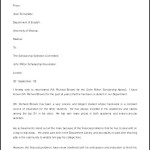 Scholarship Recommendation Letter Template Sample Download