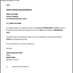 Seasonal Job Termination Letter to Employee Word Format