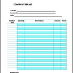 Service Invoice Template Example