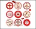 Set of valentine's day love labels