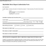 Shareholder Direct Deposit Authorization Form