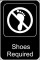 Shoes Required Sign Template