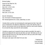 Shop Rental Agreement Termination Letter