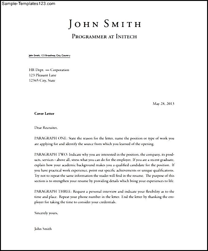 Short Stylish Latex Cover Letter Sample PDF Template Free ...