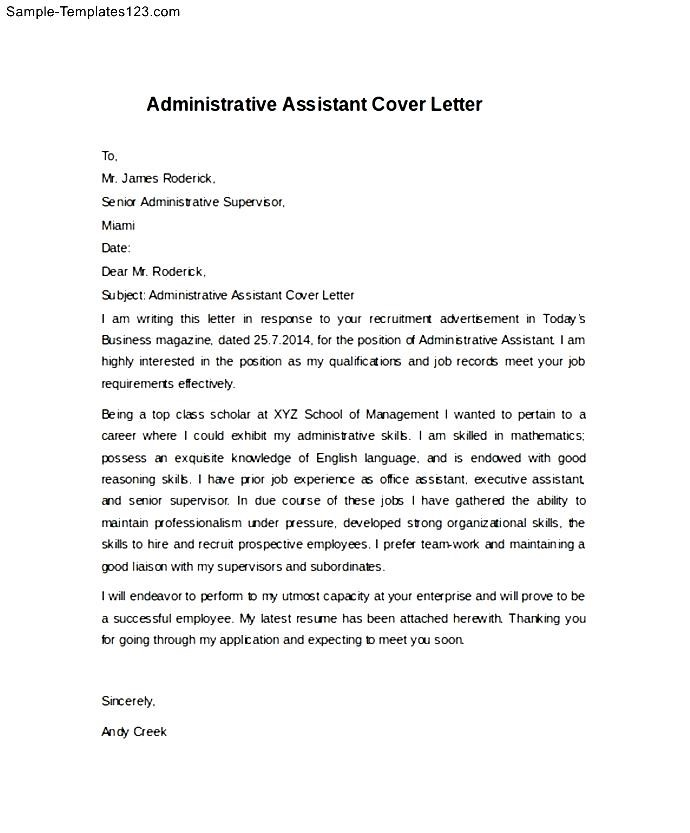 Executive personal assistant cover letter