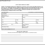 Simple Consumer Complaint Form