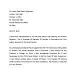 Simple Cover Letter Format