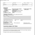 Simple Employee Write Up Form