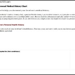 Simple Example For Medical History Form