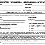 Simple Example Of Generic Medical Records Form