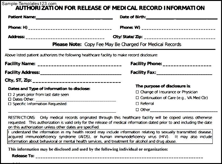 Medical Records Template Free