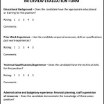 Simple Interview Evaluation Template