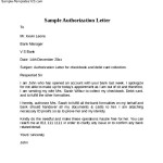 Simple Letter Of Authorization
