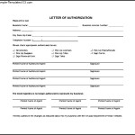 Simple Letter of Authorization Form