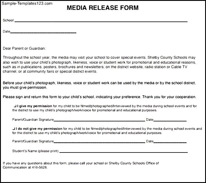 media release form template - Military.bralicious.co