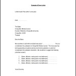 Simple Medical Journal Cover Letter Example Word Template Free Download