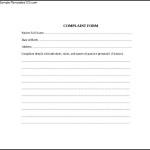 Simple Patient Complaint Form