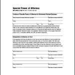 Simple Special Power of Attorney Form