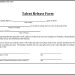 Simple Talent Release Form