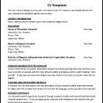 Simple Teaching CV Template
