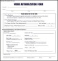 Simple Work Authorization Form
