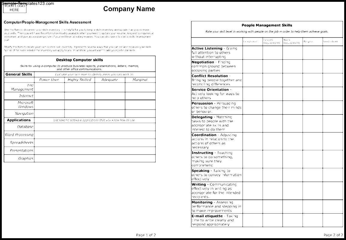 Template For Evaluation Form Zrom