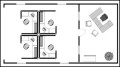 Small Office – Cubicle Floor Plan Example Template