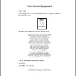Soccer Equipment List Template Free