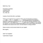 Sponsor Thank You Letter Template
