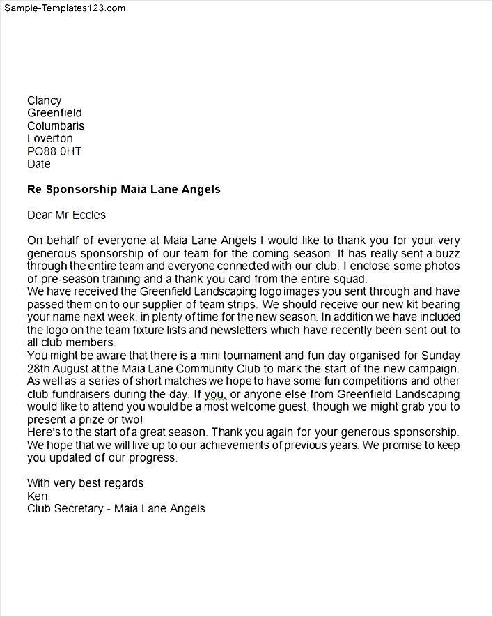 Sponsor thank you letter sample templates sample templates sponsor thank you letter expocarfo Choice Image