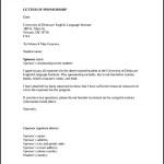 Sponsorship Letter Template for Education Download Printable