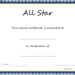 Sports – All Star Certificate Template