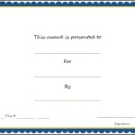 Sports – Award Certificate Template