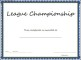 Sports – League Championship Certificate Template