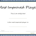 Sports – Most Improved Player certificate Template