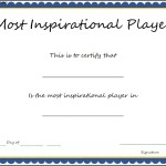 Sports – Most Inspirational Player Certificate Template