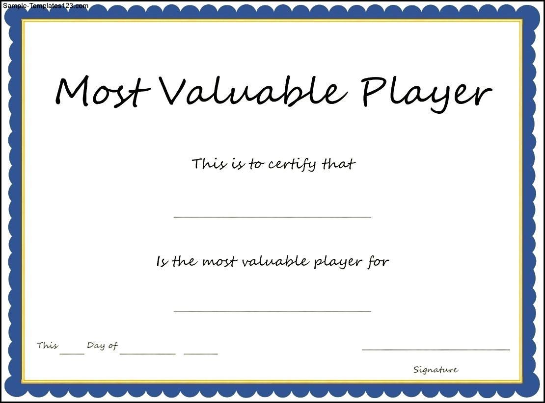 Mvp Certificate