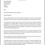 Sports Sponsorship Letter Template Free Printable Download