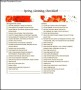 Spring Cleaning List Template