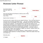 Standard Business Letter Format Second Page