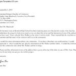 Standard Business Letter Format on Letterhead