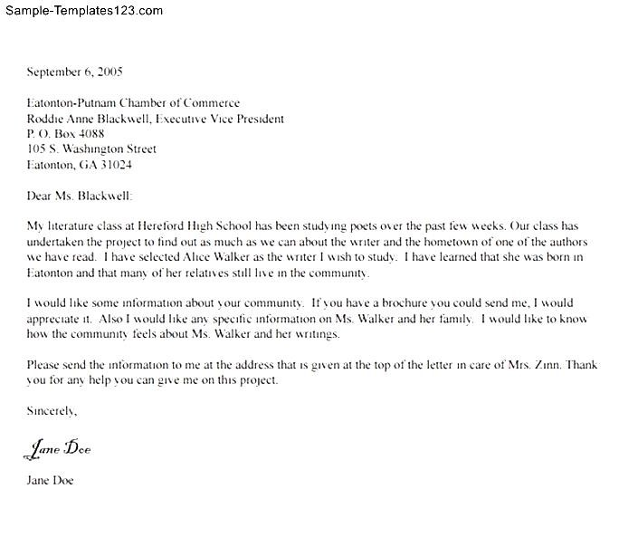 Standard Business Letter Format Templates to Download