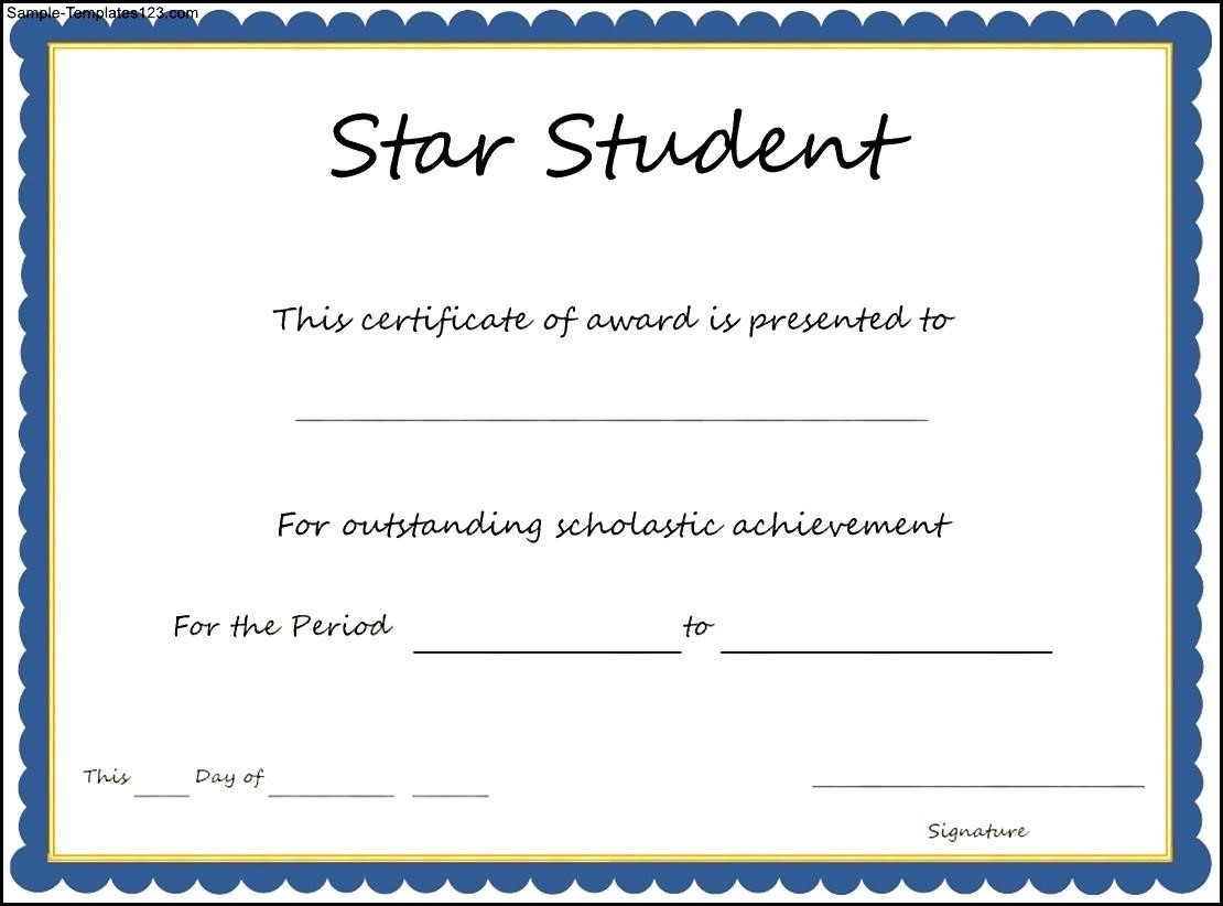 star student certificate template  most improved student certificate - Commonpence.co