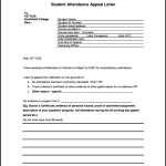 Student Attendance Appeal Letter Template Sample Free Download