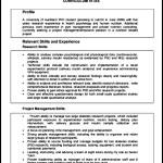 Student CV Sample Format