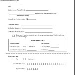 Student Credit Card Authorization Form
