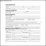 Student Emergency Contact and Information Form