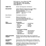 Student Resume Microsoft Word Template